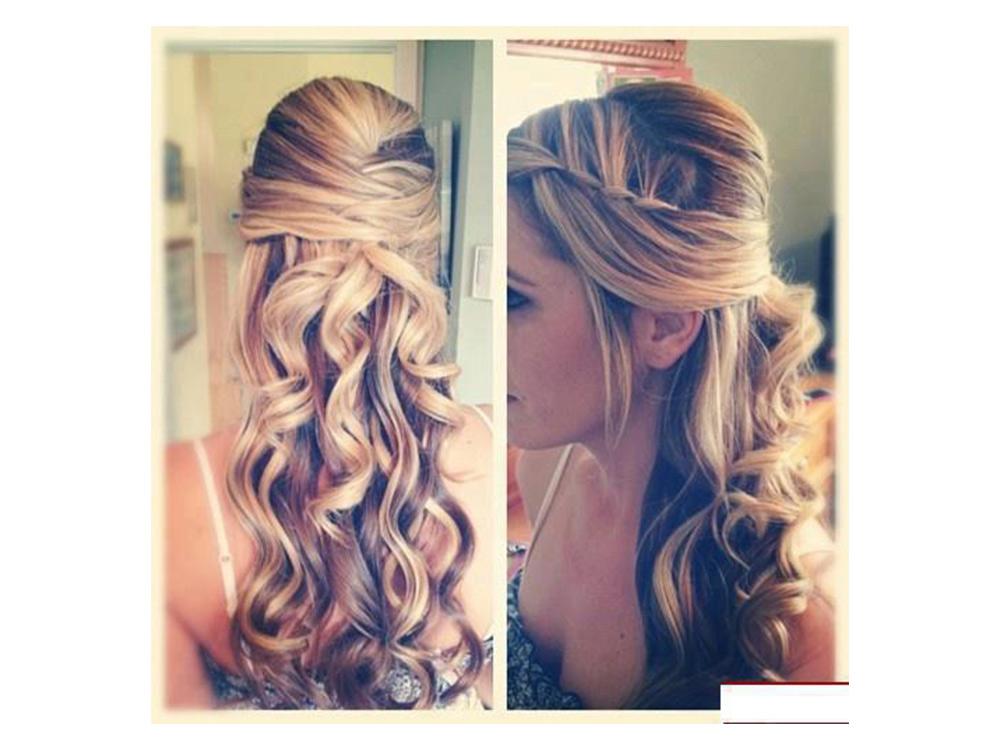 Название: b Прическа с плетением и локонами длинных волос/b br br Раздел: b Причёски/b br br Категория: b На длинные...